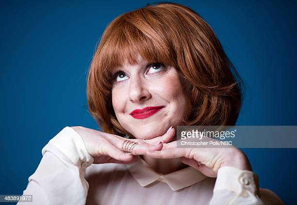 EVENTS NBCUniversal Portrait Studio August 2015 Pictured Writer/actor Julie Klausner from 'Difficult People' poses for a portrait at the NBCUniversal...