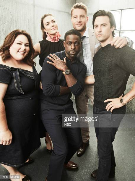 EVENTS NBCUniversal Portrait Studio August 2017 Pictured Chrissy Metz Sterling K Brown Mandy Moore Milo Ventimiglia Justin Hartley 'This Is Us'