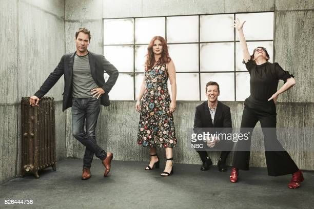 EVENTS NBCUniversal Portrait Studio August 2017 Pictured Sean Hayes Eric McCormack Debra Messing Megan Mullally 'Will Grace'