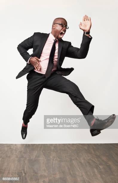 EVENTS NBCUniversal Portrait Studio March 2017 Pictured Akbar Gbajabiamila 'American Ninja Warrior' on March 20 2017 in Los Angeles California...