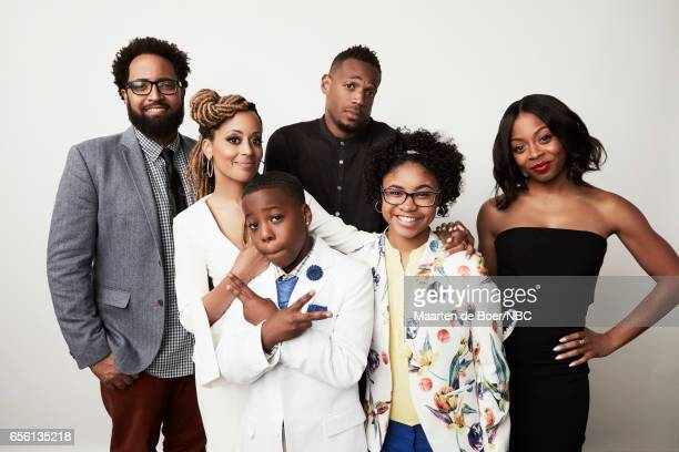 EVENTS NBCUniversal Portrait Studio March 2017 Pictured Diallo Riddle Essence Atkins Amir O'Neil Marlon Wayans Notlim Taylor Bresha Webb 'Marlon' on...