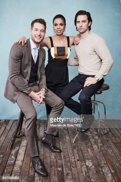 EVENTS NBCUniversal Portrait Studio March 2017 Pictured Justin Hartley Milo Ventimiglia Susan Kelechi Watson 'This is Us' at the Four Seasons Hotel...
