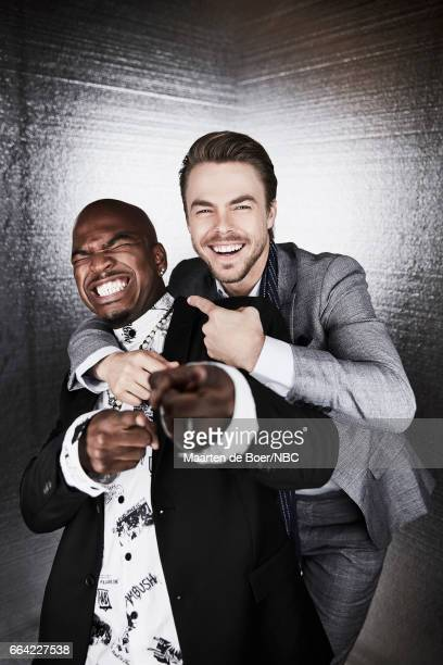 NBCUniversal Portrait Studio March 2017 Pictured NEYO Derek Hough 'World of Dance' on March 20 2017 in Los Angeles California NUP_177600 Photo by...