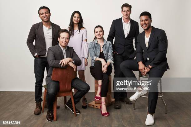 EVENTS NBCUniversal Portrait Studio March 2017 Pictured Robert Bailey Jr Scott Wolf Tanaya Beatty Jill Flint Brendan Fehr JR Lemon 'The Night Shift'...