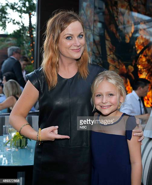 EVENTS NBCUniversal PreEmmy Party at BOA Steakhouse Pictured Amy Poehler 'Parks and Recreation' Alyvia Alyn Lind 'Dolly Parton's Coat of Many Colors'