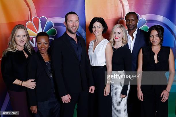 EVENTS NBCUniversal Press Tour August 2015 'Blindspot' Pictured Jennifer Salke President NBC Entertainment Marianne JeanBaptiste Sullivan Stapleton...
