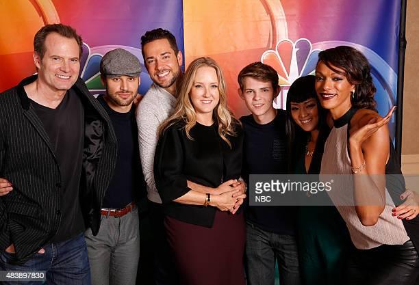 EVENTS NBCUniversal Press Tour August 2015 'Heroes Reborn' Pictured Jack Coleman Ryan Guzman Zachary Levi Jennifer Salke President NBC Entertainment...