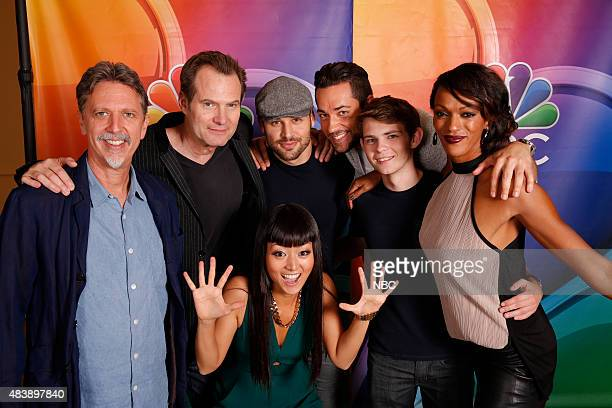 EVENTS NBCUniversal Press Tour August 2015 'Heroes Reborn' Pictured Tim Kring Executive Producer Jack Coleman Kiki Sukezane Ryan Guzman Zachary Levi...