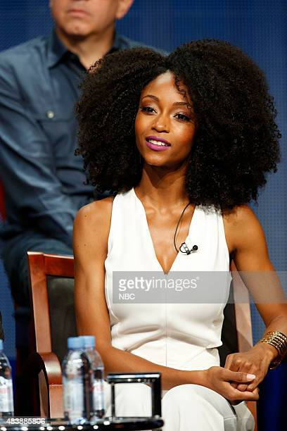 EVENTS NBCUniversal Press Tour August 2015 NBC's 'Chicago Med' Session Pictured Yaya DaCosta Star