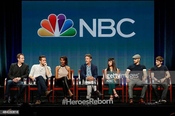 EVENTS NBCUniversal Press Tour August 2015 NBC's 'Heroes Reborn' Session Pictured Jack Coleman Zachary Levi Judi Shekoni Tim Kring Executive Producer...