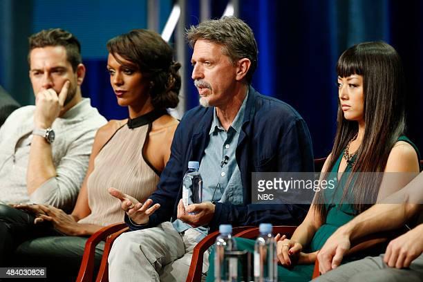 EVENTS NBCUniversal Press Tour August 2015 NBC's 'Heroes Reborn' Session Pictured Zachary Levi Judi Shekoni Tim Kring Executive Producer Kiki Sukezane