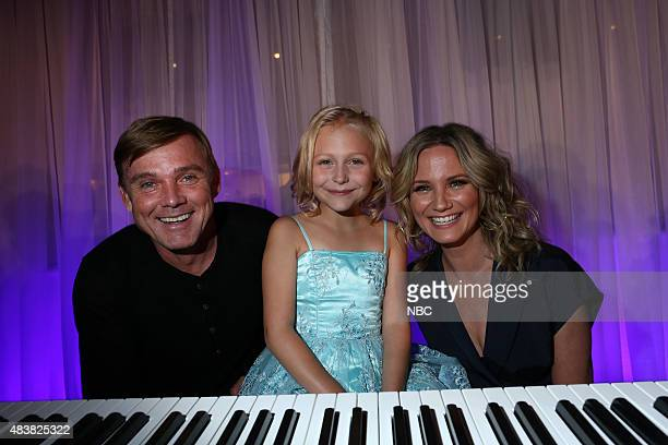 EVENTS NBCUniversal Press Tour August 2015 Spago Party Pictured Ricky Schroder Alyvia Alyn Lind Jennifer Nettles NBC's 'Dolly Parton's Coat of Many...
