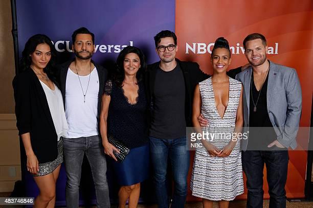 EVENTS NBCUniversal Press Tour August 2015 Syfy 'The Expanse' Pictured Florence Faivre Cas Anvar Shohreh Aghdashloo Steve Strait Dominique Tipper Wes...