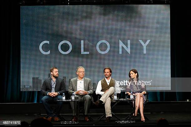 EVENTS NBCUniversal Press Tour August 2015 USA's 'Colony' Session Pictured Ryan Condal Executive Producer Carlton Cuse Executive Producer Josh...