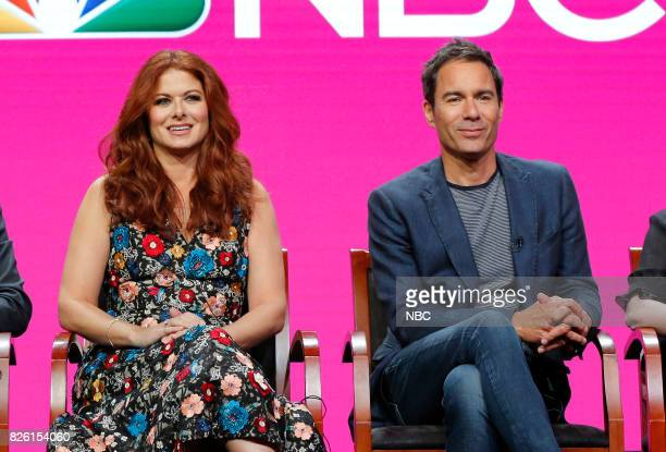 EVENTS NBCUniversal Press Tour August 2017 NBC's 'Will Grace' Session Pictured Debra Messing Erick McCormack