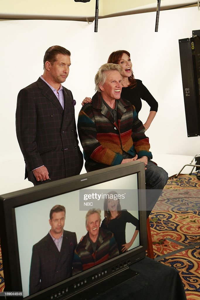 EVENTS -- NBCUniversal Press Tour January 2013 -- Pictured: (l-r) Stephen Baldwin, Gary Busey, Marilu Henner --