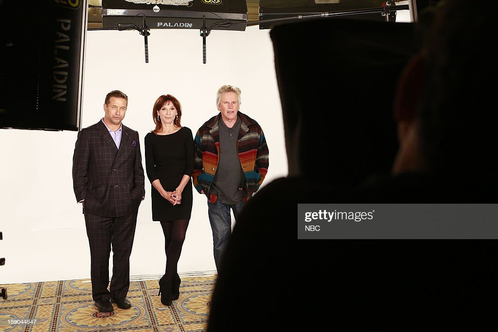 EVENTS -- NBCUniversal Press Tour January 2013 -- Pictured: (l-r) Stephen Baldwin, Marlilu Henner, Gary Busey --