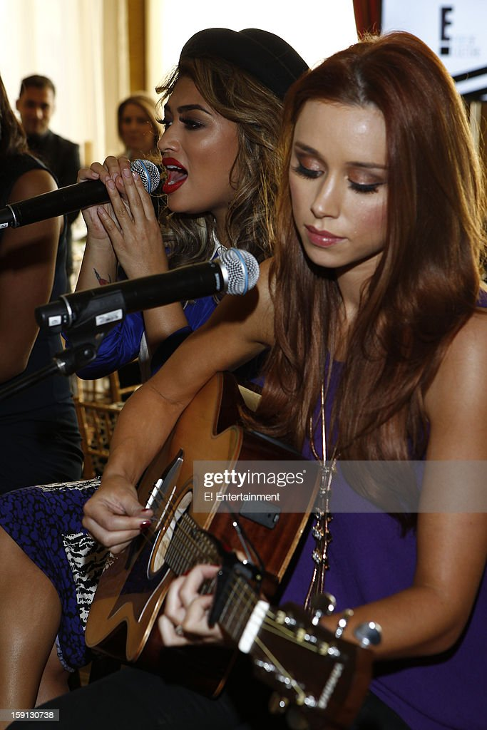 EVENTS -- NBCUniversal Press Tour January 2013 -- Pictured: (l-r) Vanessa White, Una Healy, 'Chasing the Saturdays' --