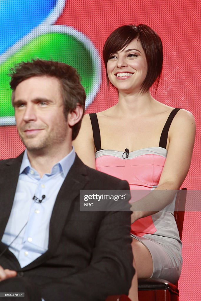 EVENTS -- NBCUniversal Press Tour January 2013 -- 'Smash' -- Pictured: (l-r) Christian Borle, Krysta Rodriguez --