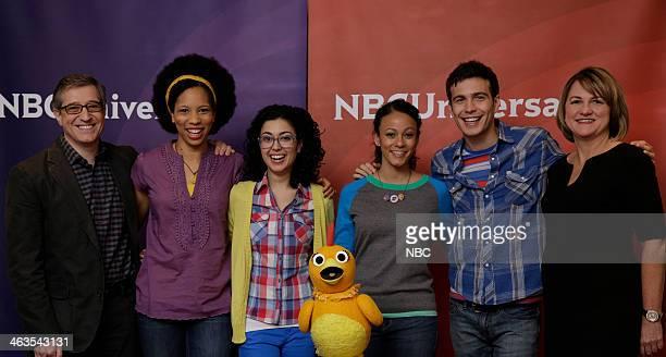 EVENTS NBCUniversal Press Tour January 2014 Pictured 'The Sunny Side Up Show' Andrew Beecham Senior Vice President Programming Dennisha Pratt Host...