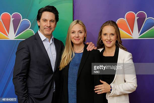 EVENTS NBCUniversal Press Tour January 2015 'Allegiance' Pictured Scott Cohen Hope Davis Jennifer Salke President NBC Entertainment