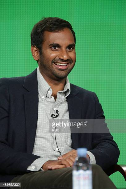 EVENTS NBCUniversal Press Tour January 2015 'Parks and Recreation' Session Pictured Aziz Ansari