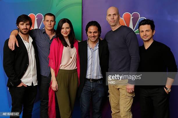 EVENTS NBCUniversal Press Tour January 2015 'The Night Shift' Pictured Eoin Macken Brendan Fehr Jill Flint Gabe Sachs Executive Producer Jeff Judah...
