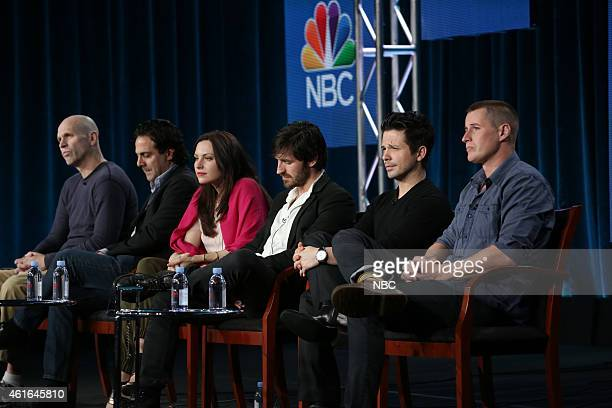 EVENTS NBCUniversal Press Tour January 2015 'The Night Shift' Session Pictured Jeff Judah Gabe Sachs Jill Flint Eoin Macken Freddy Rodriguez Brendan...