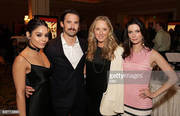 EVENTS NBCUniversal Press Tour January 2017 NBCUniversal Party Pictured Vanessa Hudgens 'Powerless' Milo Ventimiglia 'This is Us' Jennifer Salke...