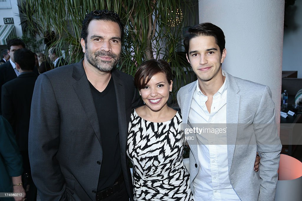 EVENTS -- NBCUniversal Press Tour July 2013 -- 'NBC Cocktail Reception' -- Pictured: (l-r) Ricardo A. Chavira, 'Welcome to the Family,' Justina Machado, 'Welcome to the Family, Joseph Haro, 'Welcome to the Family --