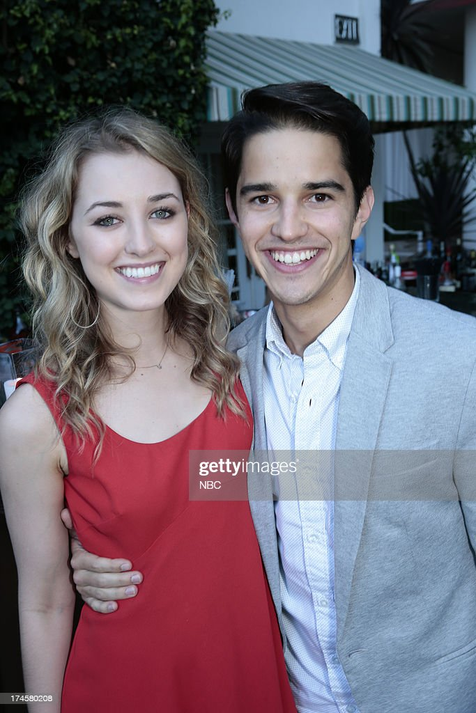 EVENTS -- NBCUniversal Press Tour July 2013 -- 'NBC Cocktail Reception' -- Pictured: (l-r) Ella Rae Peck, 'Welcome to the Family,' Joseph Haro, 'Welcome to the Family' --