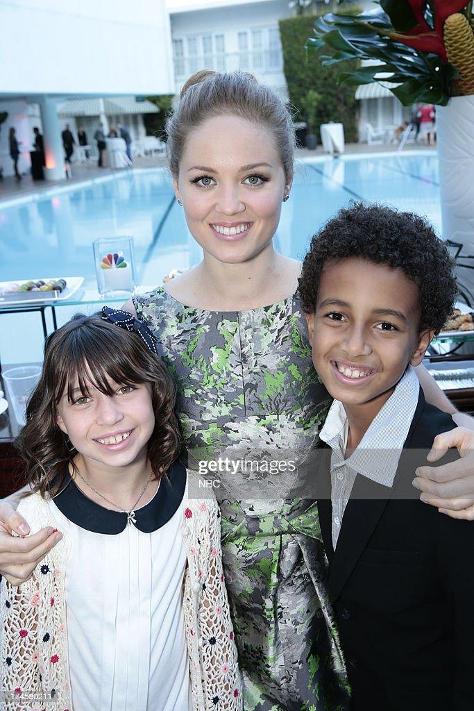 EVENTS -- NBCUniversal Press Tour July 2013 -- 'NBC Cocktail Reception' -- Pictured: (l-r) Savannah Paige Rae, 'Parenthood,' Erika Christensen, 'Parenthood,' Tyree Brown, 'Parenthood' --