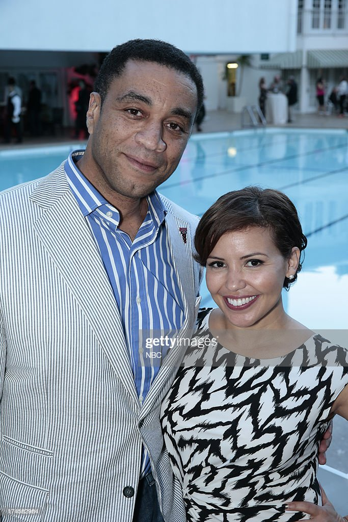 EVENTS -- NBCUniversal Press Tour July 2013 -- 'NBC Cocktail Reception' -- Pictured: (l-r) Harry Lennix, 'The Blacklist,' Justina Machado, 'Welcome to the Family' --