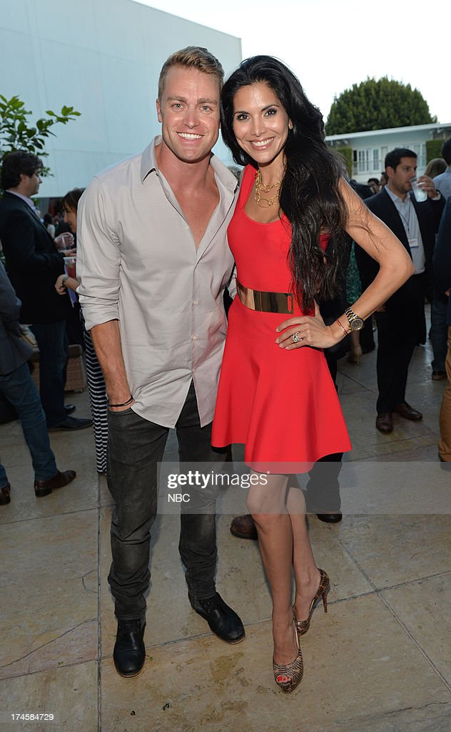 EVENTS -- NBCUniversal Press Tour July 2013 -- NBC Cocktail Reception -- Pictured: (l-r) 'Siberia', Jonathon Buckley, Joyce Giraud --