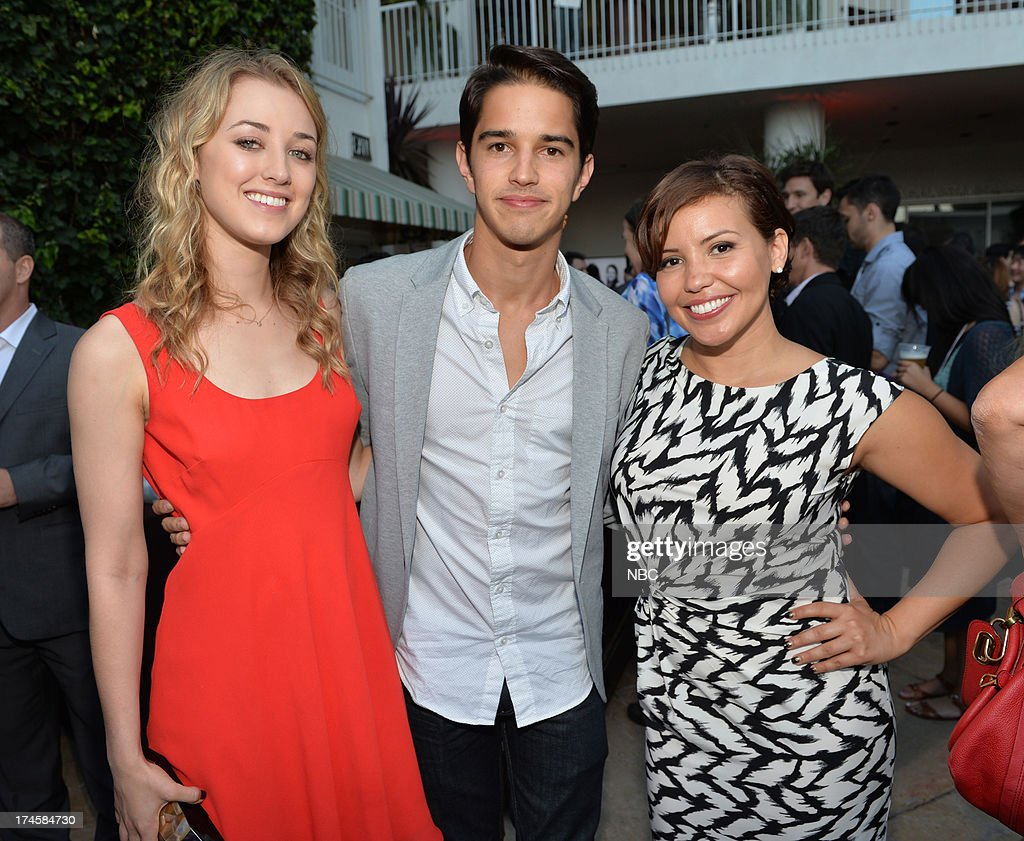 EVENTS -- NBCUniversal Press Tour July 2013 -- NBC Cocktail Reception -- Pictured: (l-r) 'Welcome to the Family' Ella Rae Peck, Joseph Haro, Justina Machado --