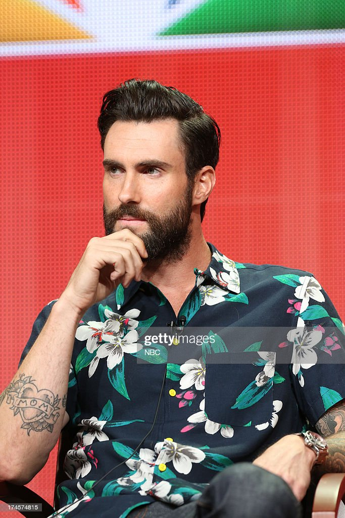 EVENTS -- NBCUniversal Press Tour July 2013 -- 'The Voice Session' -- Pictured: <a gi-track='captionPersonalityLinkClicked' href=/galleries/search?phrase=Adam+Levine+-+Singer&family=editorial&specificpeople=202962 ng-click='$event.stopPropagation()'>Adam Levine</a> --