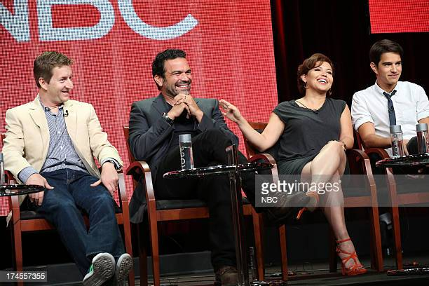 EVENTS NBCUniversal Press Tour July 2013 'Welcome to the Family' Session Pictured Mike Sikowitz Executive Producer Ricardo A Chavira Justina Machado...