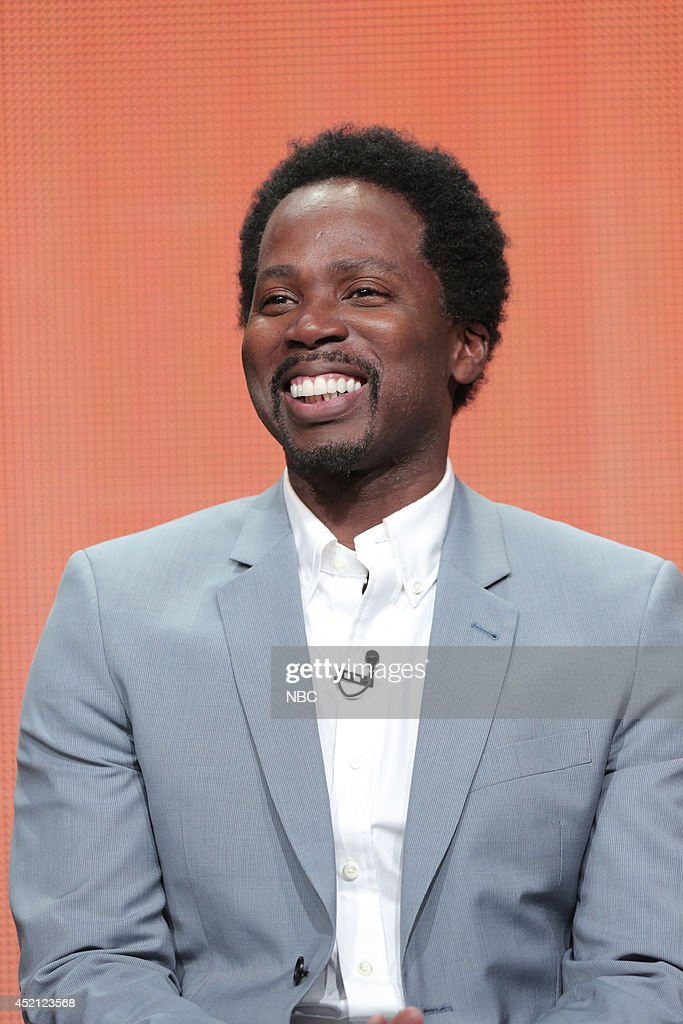 EVENTS -- NBCUniversal Press Tour, July 2014 -- 'Constantine' Session -- Pictured: <a gi-track='captionPersonalityLinkClicked' href=/galleries/search?phrase=Harold+Perrineau&family=editorial&specificpeople=581188 ng-click='$event.stopPropagation()'>Harold Perrineau</a> --