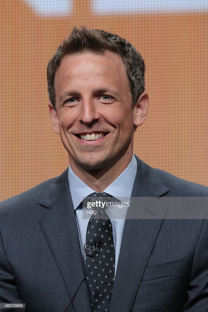 EVENTS -- NBCUniversal Press Tour, July 2014 -- 'The 66th Primetime Emmy Awards' Session -- Pictured: Seth Meyers, Host --