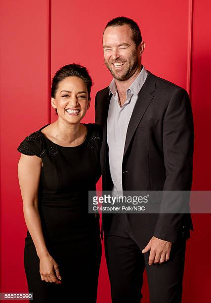 EVENTS NBCUniversal Press Tour Portraits AUGUST 02 2016 Actors Archie Panjabi and Sullivan Stapleton of 'Blindspot' pose for a portrait in the the...