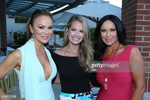 EVENTS NBCUniversal Summer Press Day April 1 2016 Cocktail Reception Pictured Tiffany Hendry 'The Real Housewives of Dallas' Cameran Eubanks...