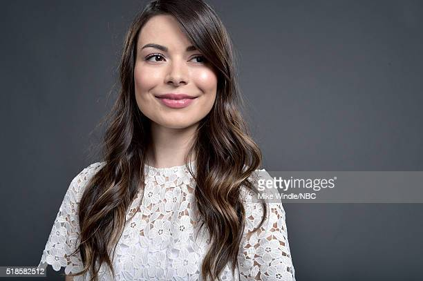 EVENTS NBCUniversal Summer Press Day April 1 2016 Pictured Actress Miranda Cosgrove of 'Crowded' poses for a portrait during the NBCUniversal Summer...