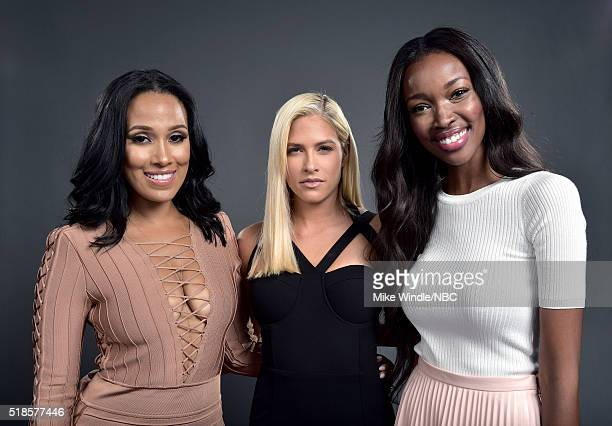 EVENTS NBCUniversal Summer Press Day April 1 2016 Pictured Sasha Gates Barbie Blank and Tia Shipman of 'WAGS' poses for a portrait during the...