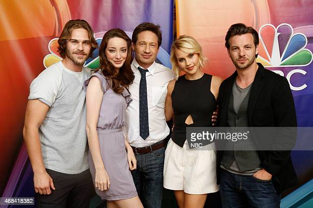 EVENTS NBCUniversal Summer Press Day April 2015 'Aquarius' Pictured Grey Damon Emma Dumont David Duchovny Claire Holt Gethin Anthony