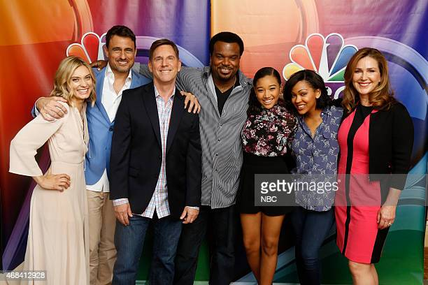 EVENTS NBCUniversal Summer Press Day April 2015 'Mr Robinson' Pictured Spencer Grammer Ben Koldyke Tim Bagley Craig Robinson Amandla Stenberg Meagan...