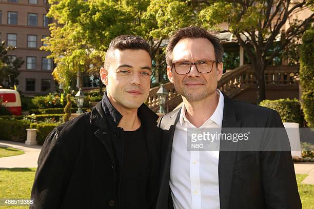 EVENTS NBCUniversal Summer Press Day April 2015 Pictured Rami Malek Christian Slater 'Mr Robot' USA