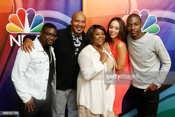 EVENTS NBCUniversal Summer Press Day April 2015 'The Carmichael Show' Pictured Lil Rel Howery David Alan Grier Loretta Devine Amber Stevens West...