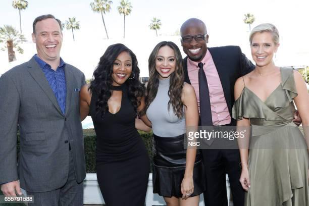 NBCUniversal Summer Press Day Pictured Matt Iseman NBC's 'American Ninja Warrior' Tiffany Haddish NBC's 'The Carmichael Show' Amber Stevens West...
