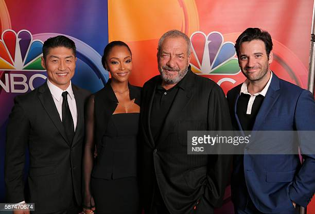 EVENTS NBCUniversal Summer Press Tour August 2 2016 NBC's 'Chicago Med' cast Pictured Brian Tee Yaya DaCosta Dick Wolf Executive Producer Colin...