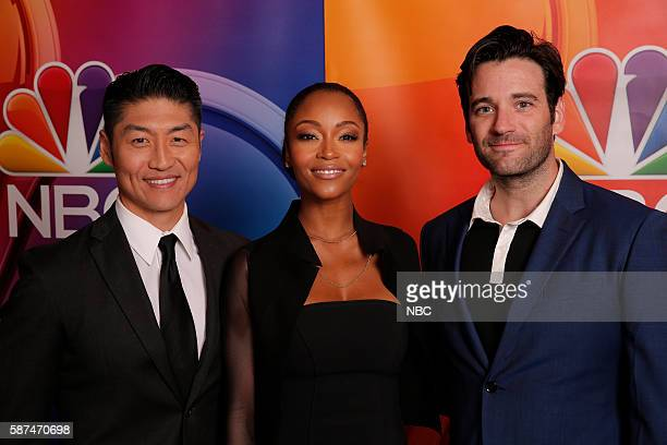 EVENTS NBCUniversal Summer Press Tour August 2 2016 NBC's 'Chicago Med' cast Pictured Brian Tee Yaya DaCosta Colin Donnell